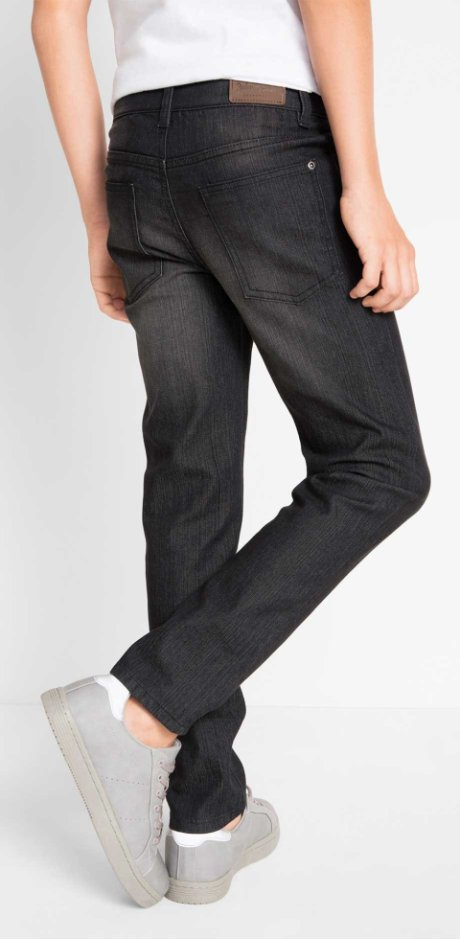 Barn - Jeans, smal passform - black stone