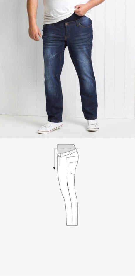 037b0ed8 Herre - Pull on-bukse med behagelig jerseylinning - mørkblå used