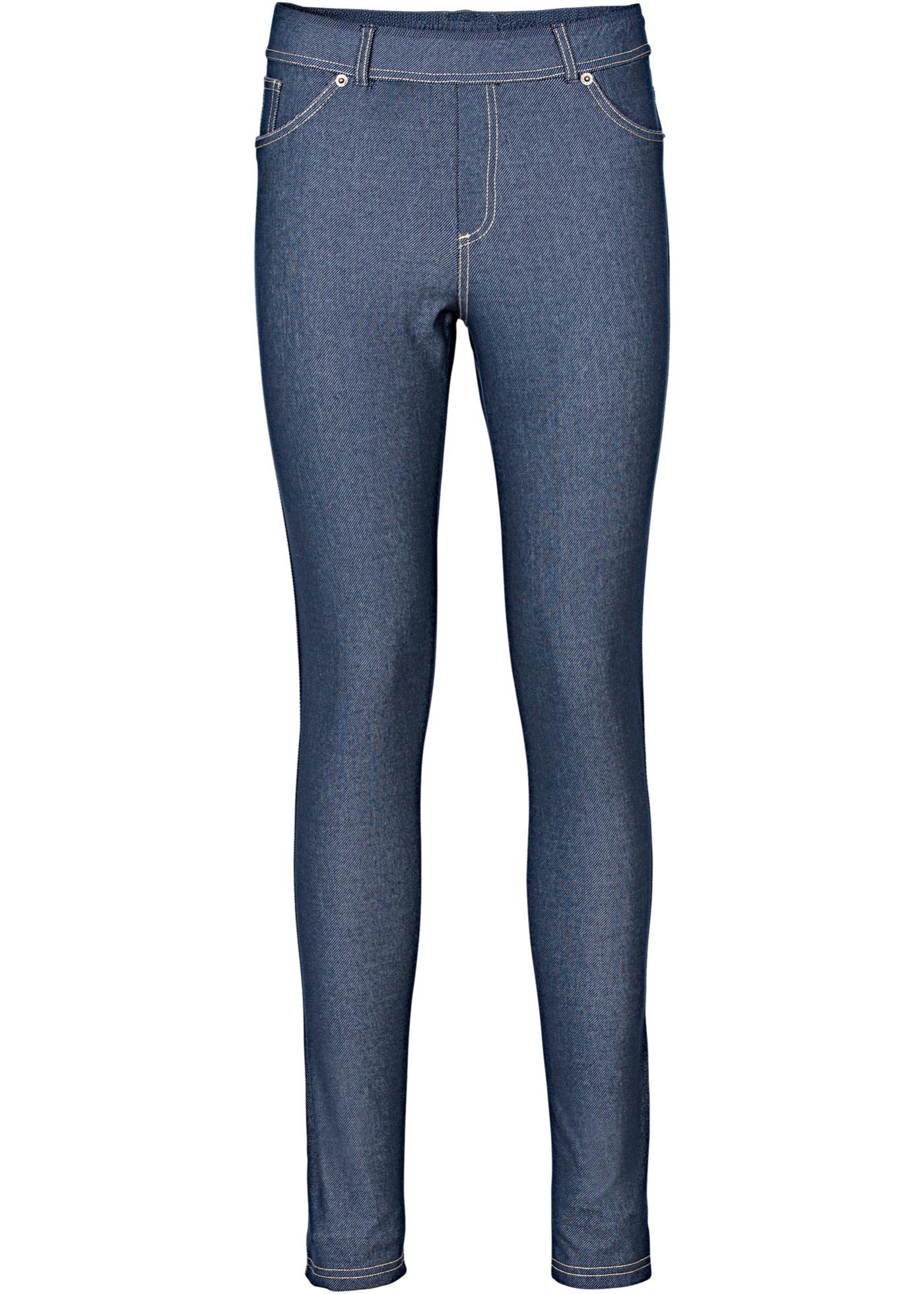 Leggings i jeansoptikk