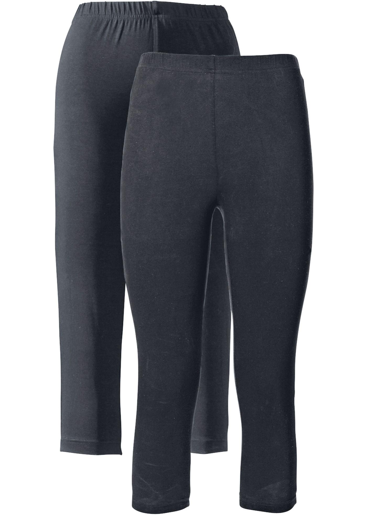 Capri-leggings med stretch (2-pack)