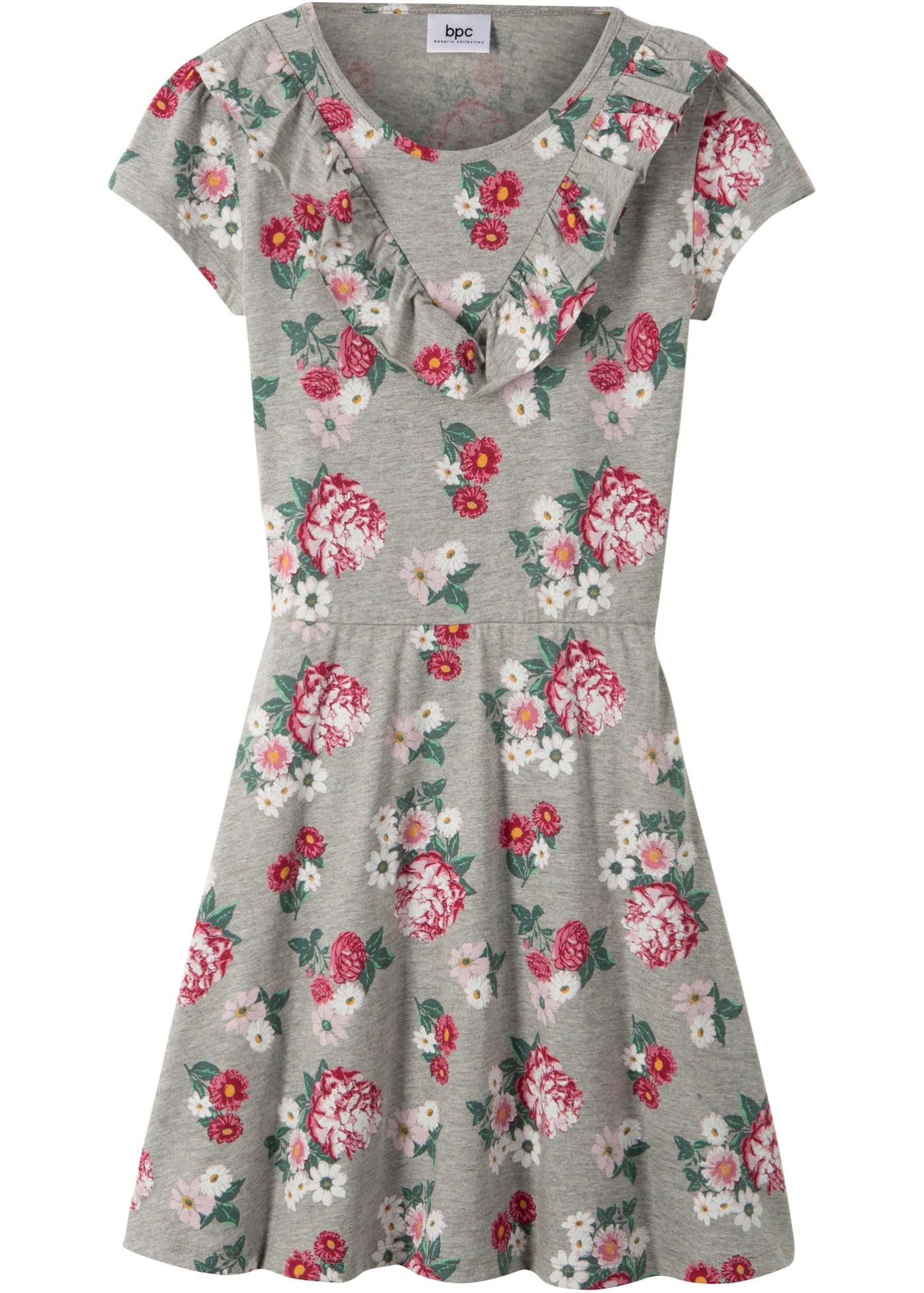 Kortermet kjole med volang