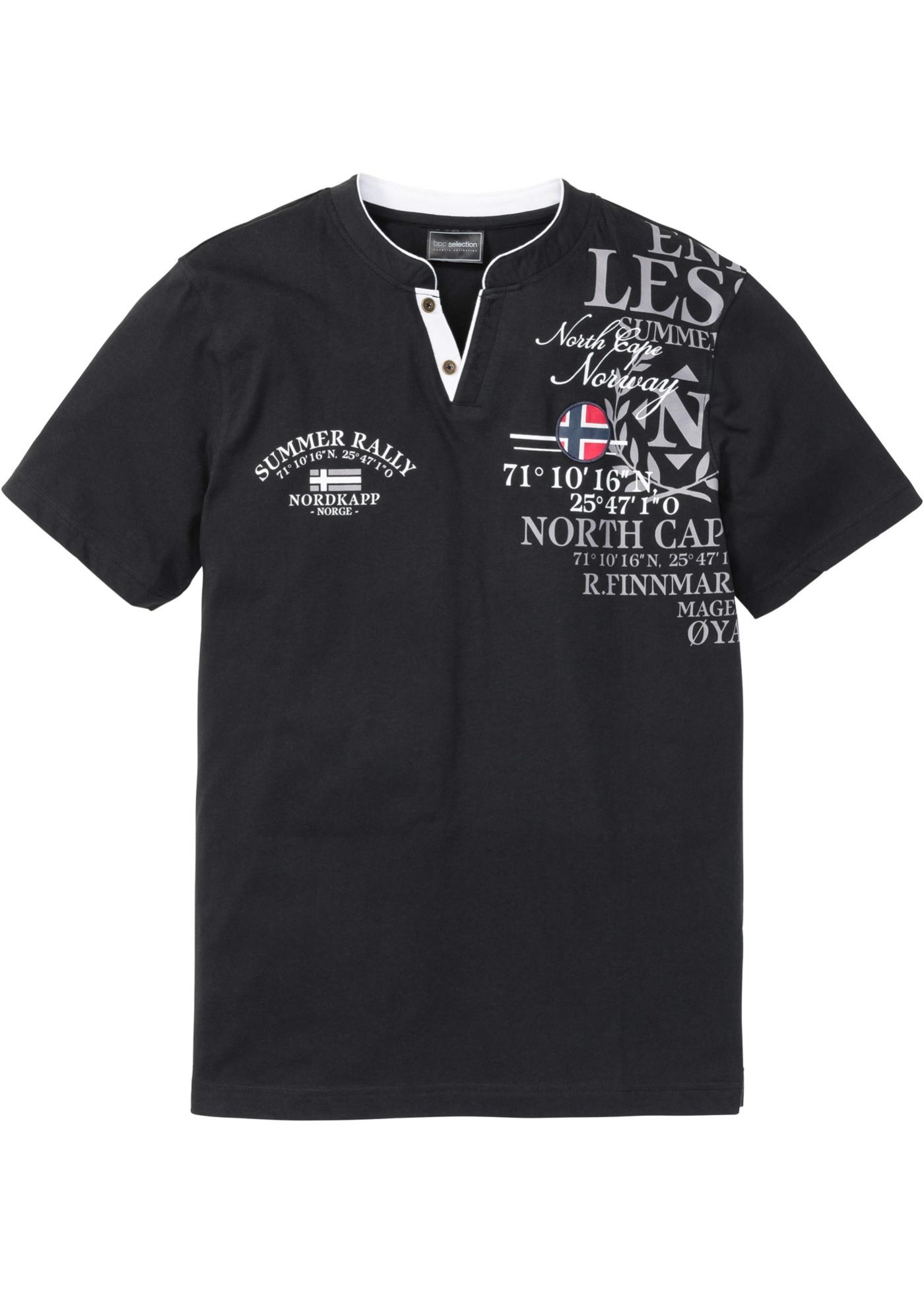 Henleyshirt med trykk