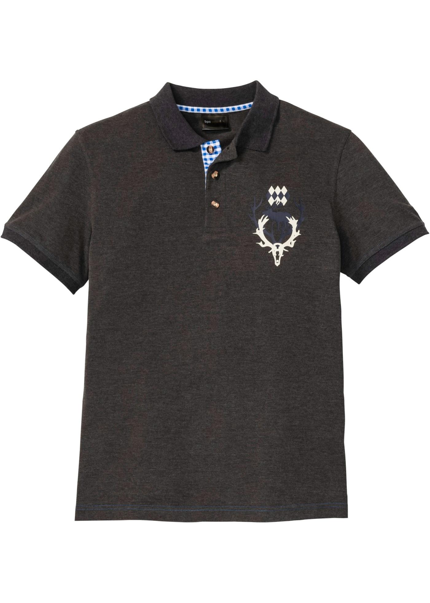 Poloshirt i tirolerstil