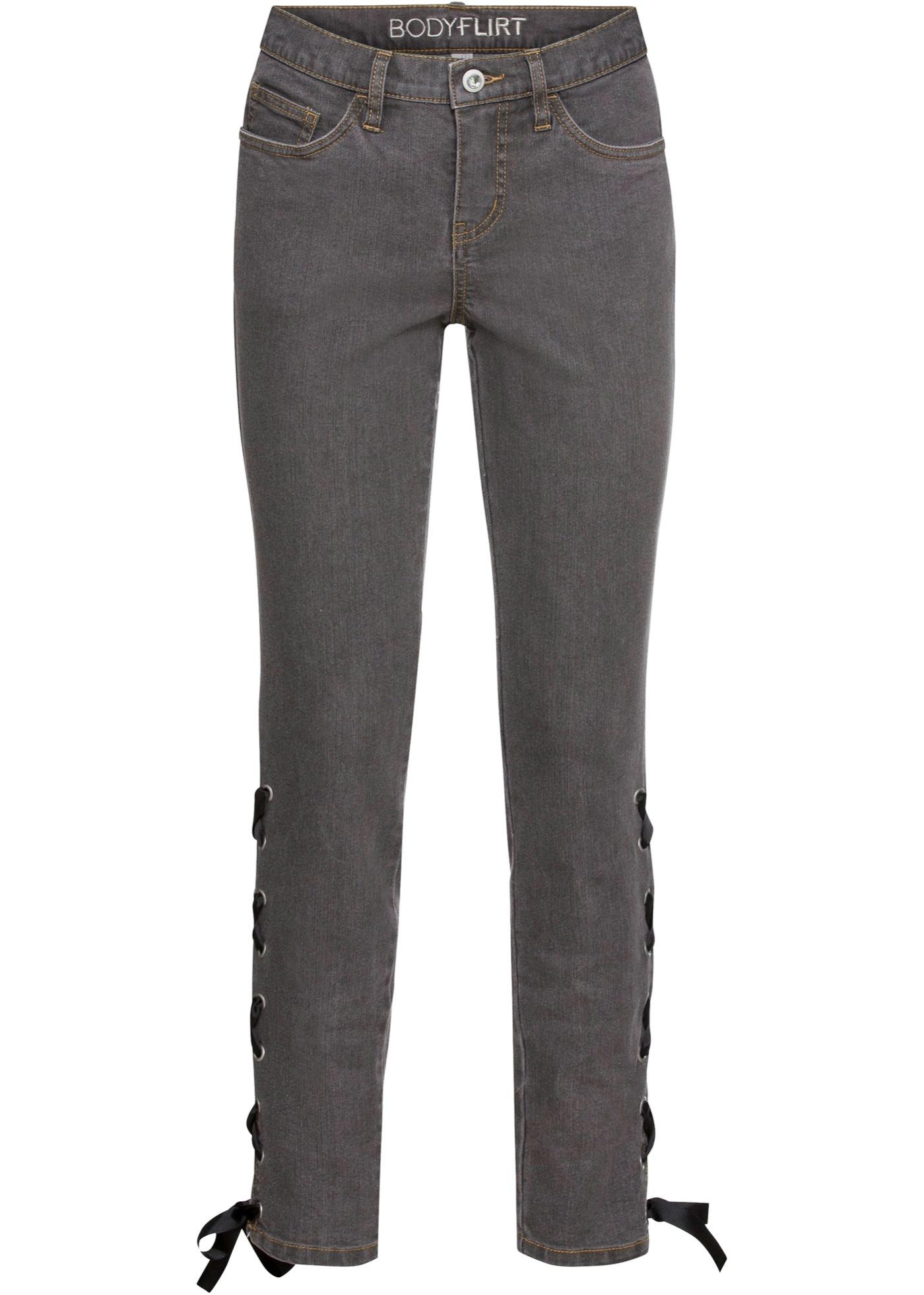 Skinny-jeans med snøring