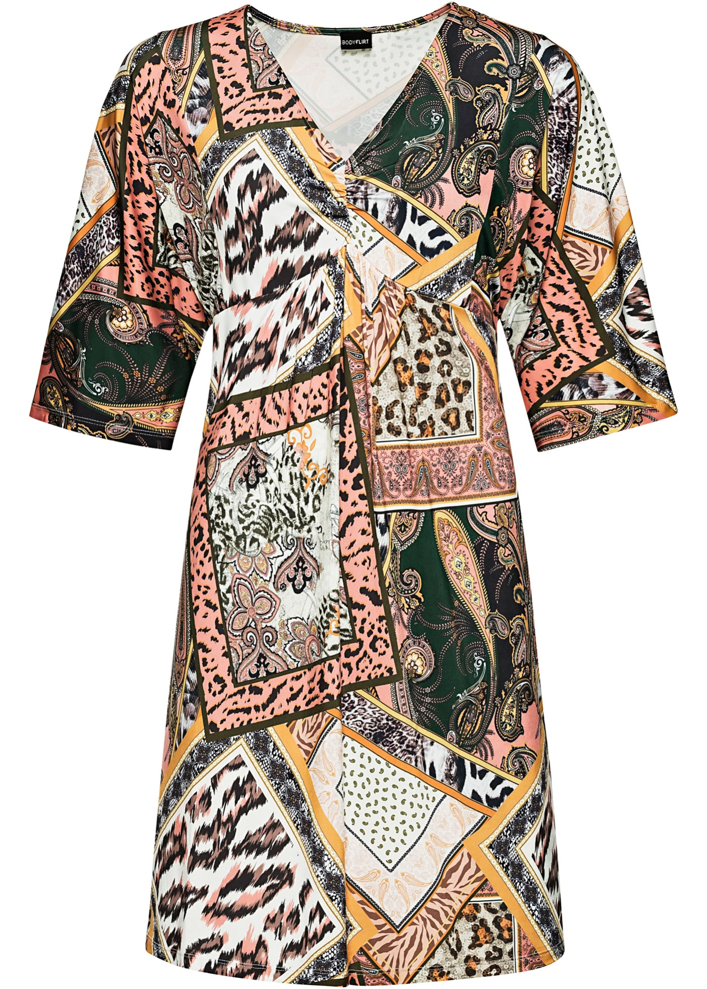 Tunika-kjole med knytebånd