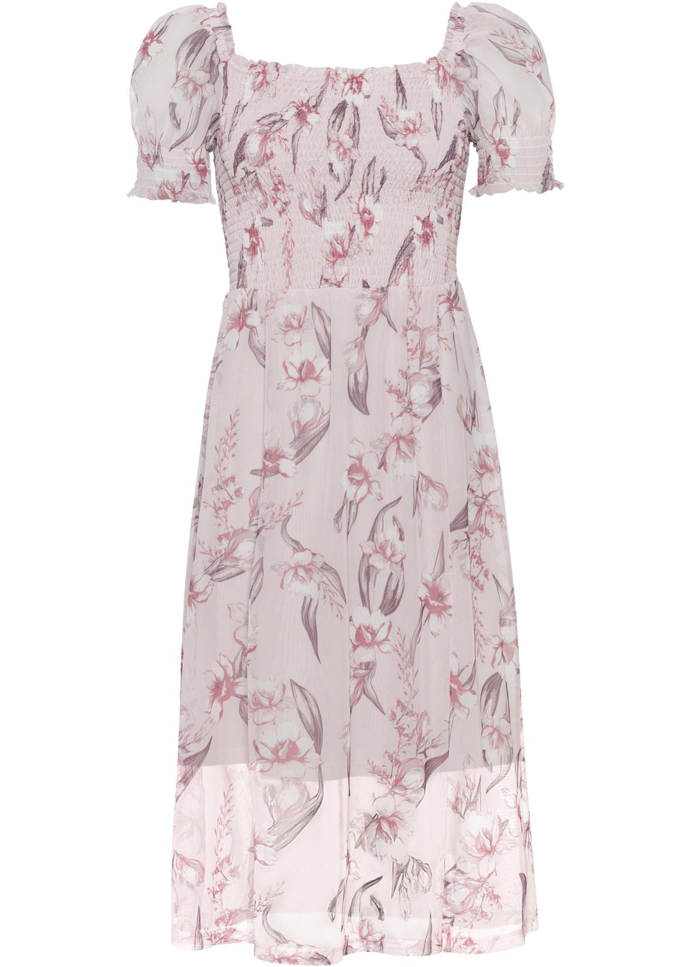 Kjole med vaffelsøm og firkantet halsringning, Must-Have