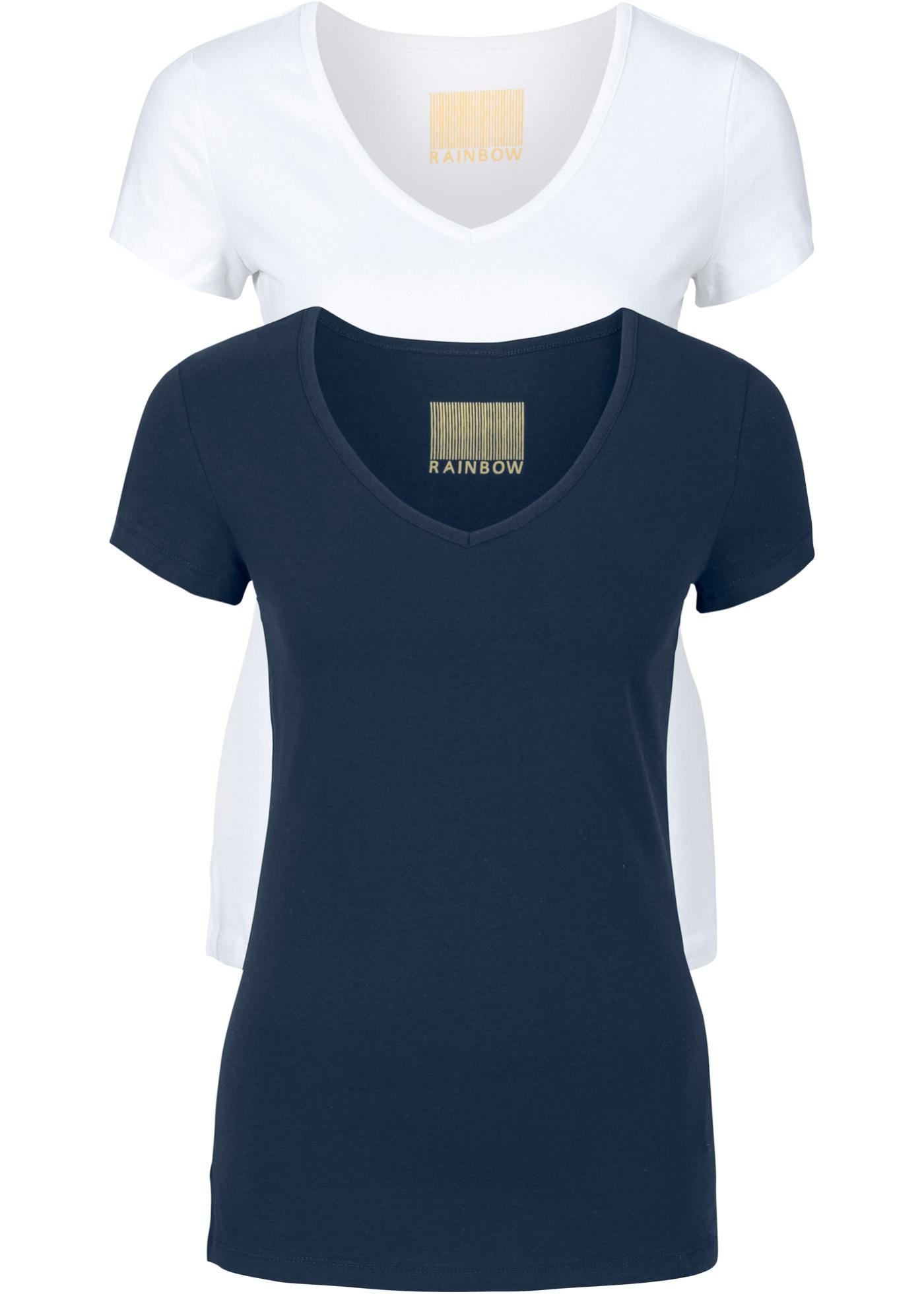 Bilde av 2-pakning, T-shirt for dame, rund hals