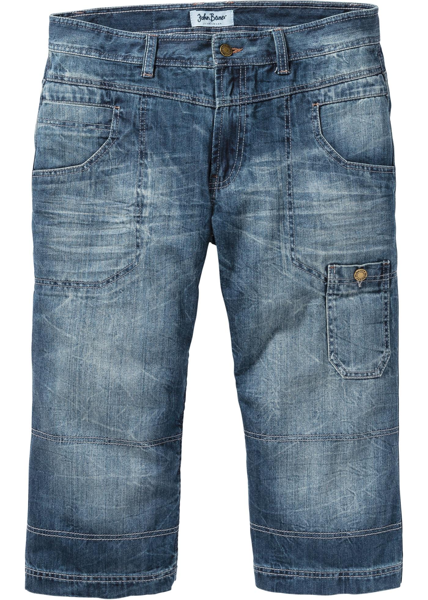 Bilde av 3/4 jeans, normal, rett passform