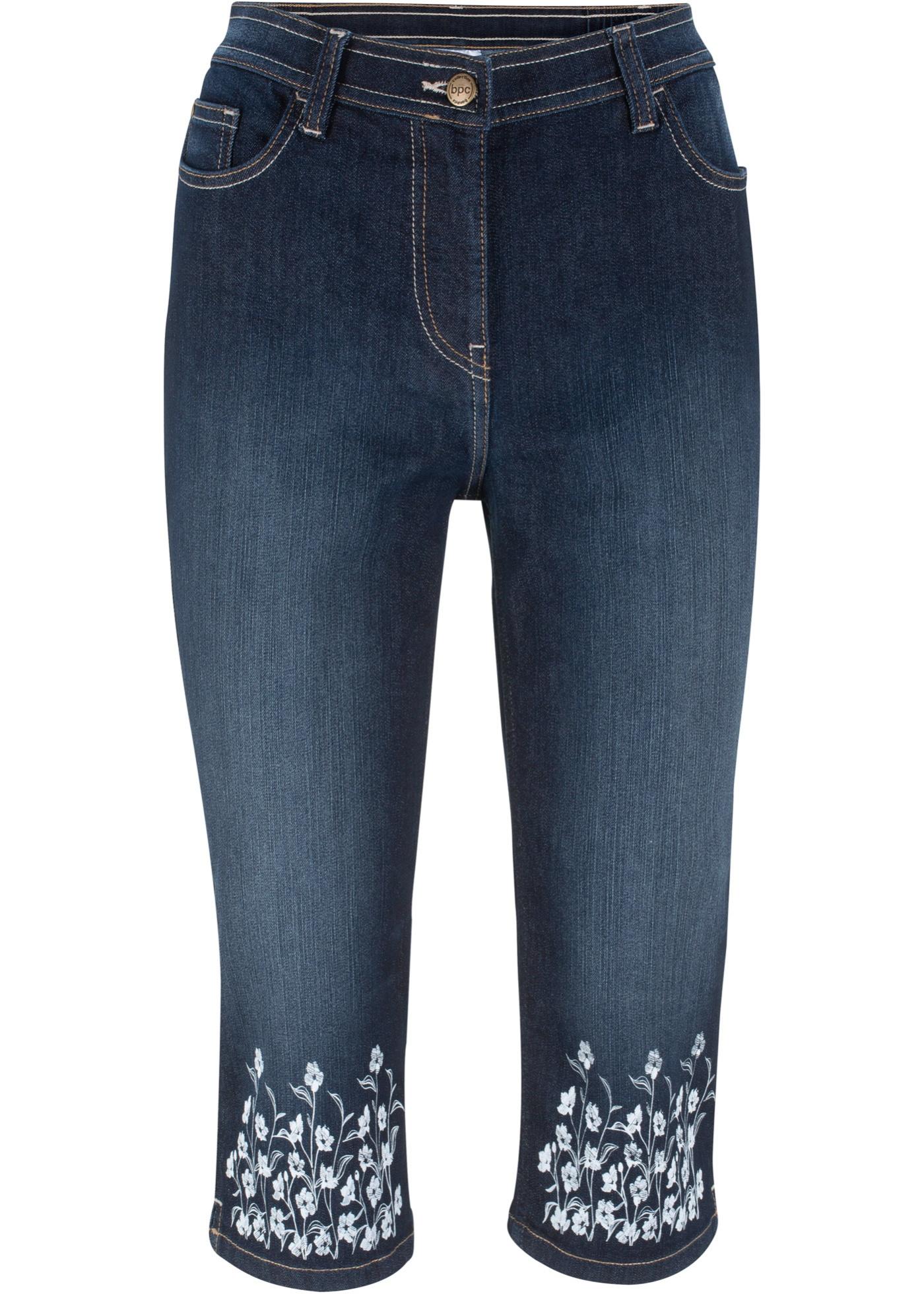 Bilde av 3/4-jeans med trykt bord nederst