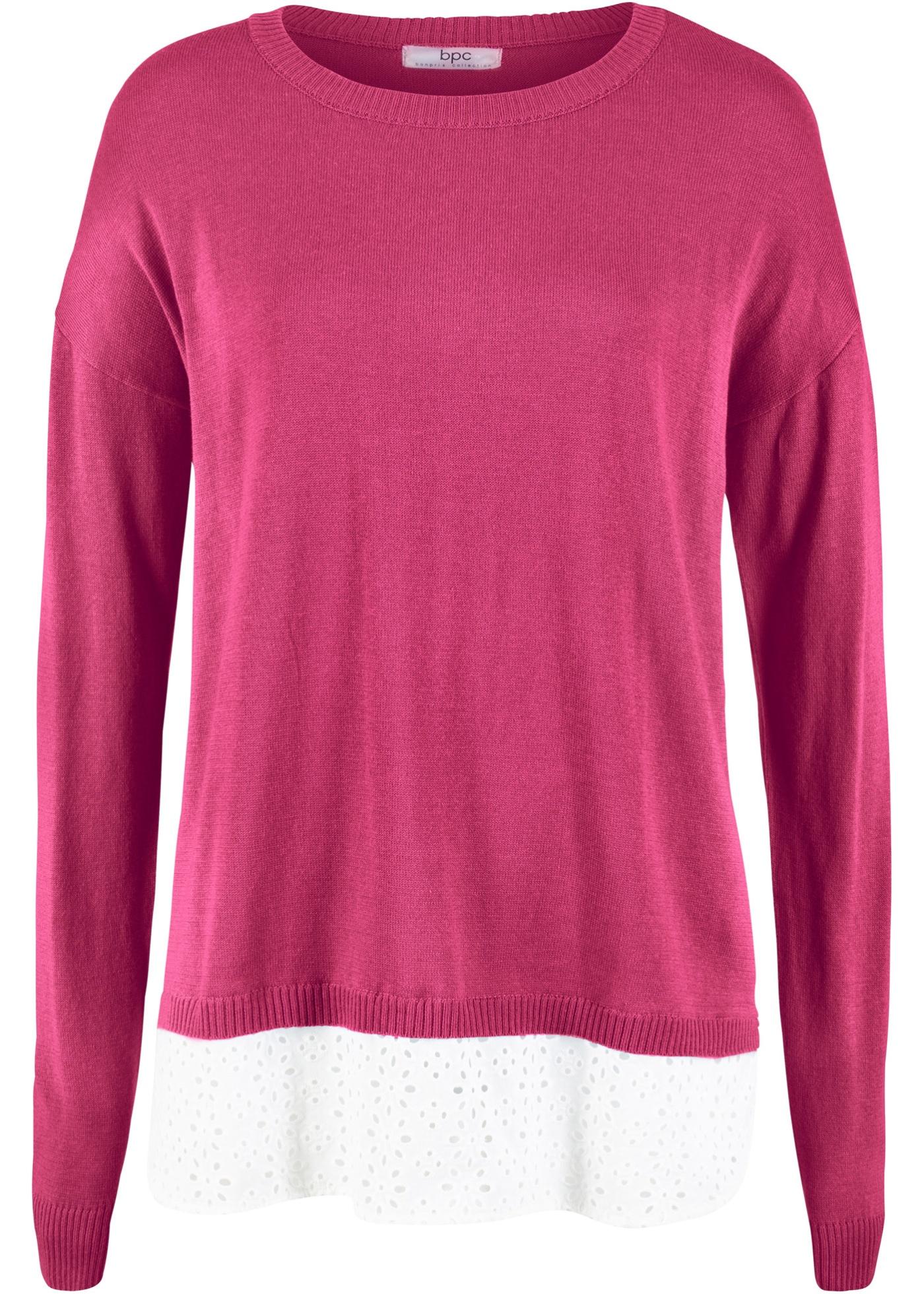 Bilde av 2-i-1 genser med blusebesetning