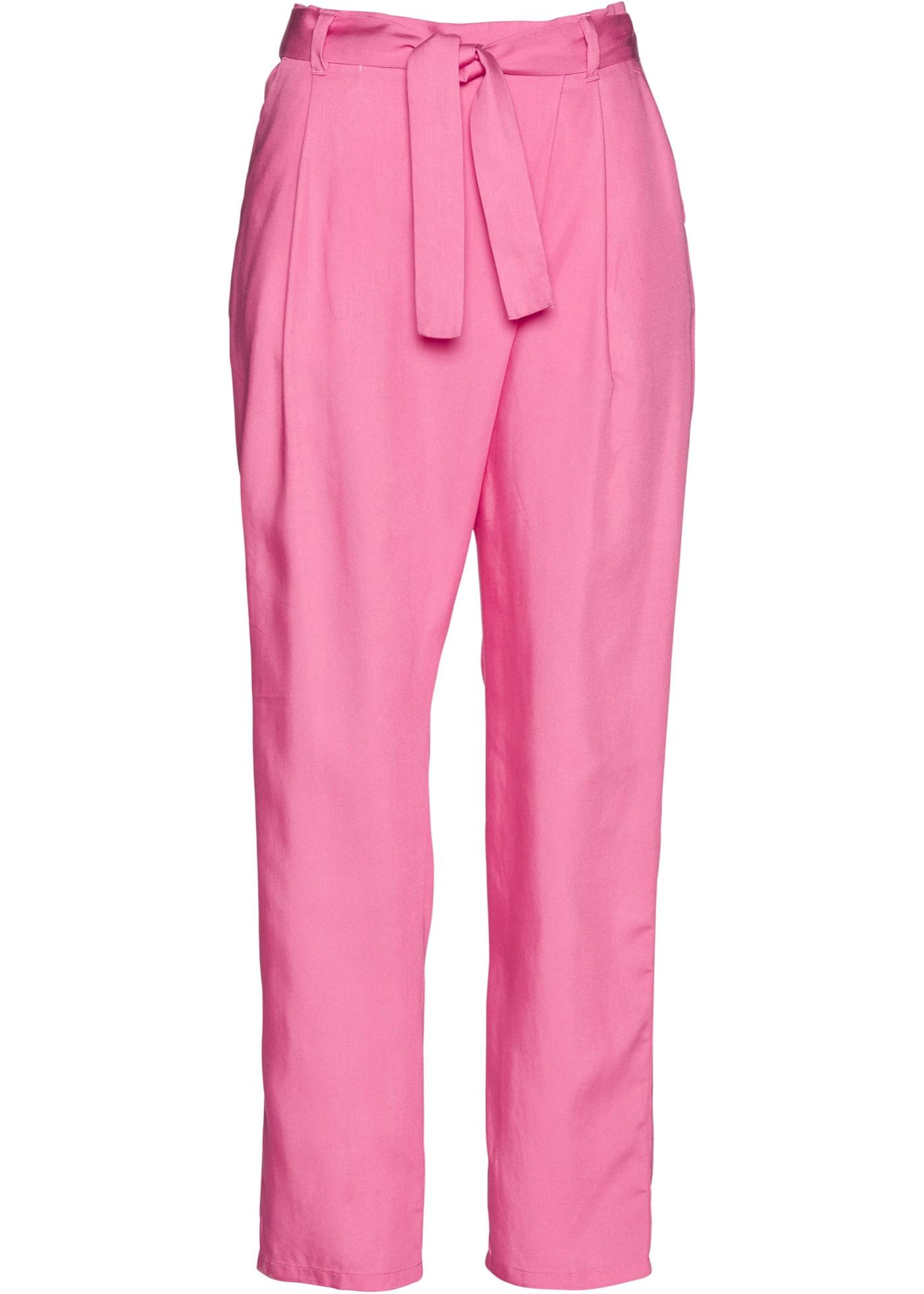 Tencel lyocell-bukse med legg på linningen