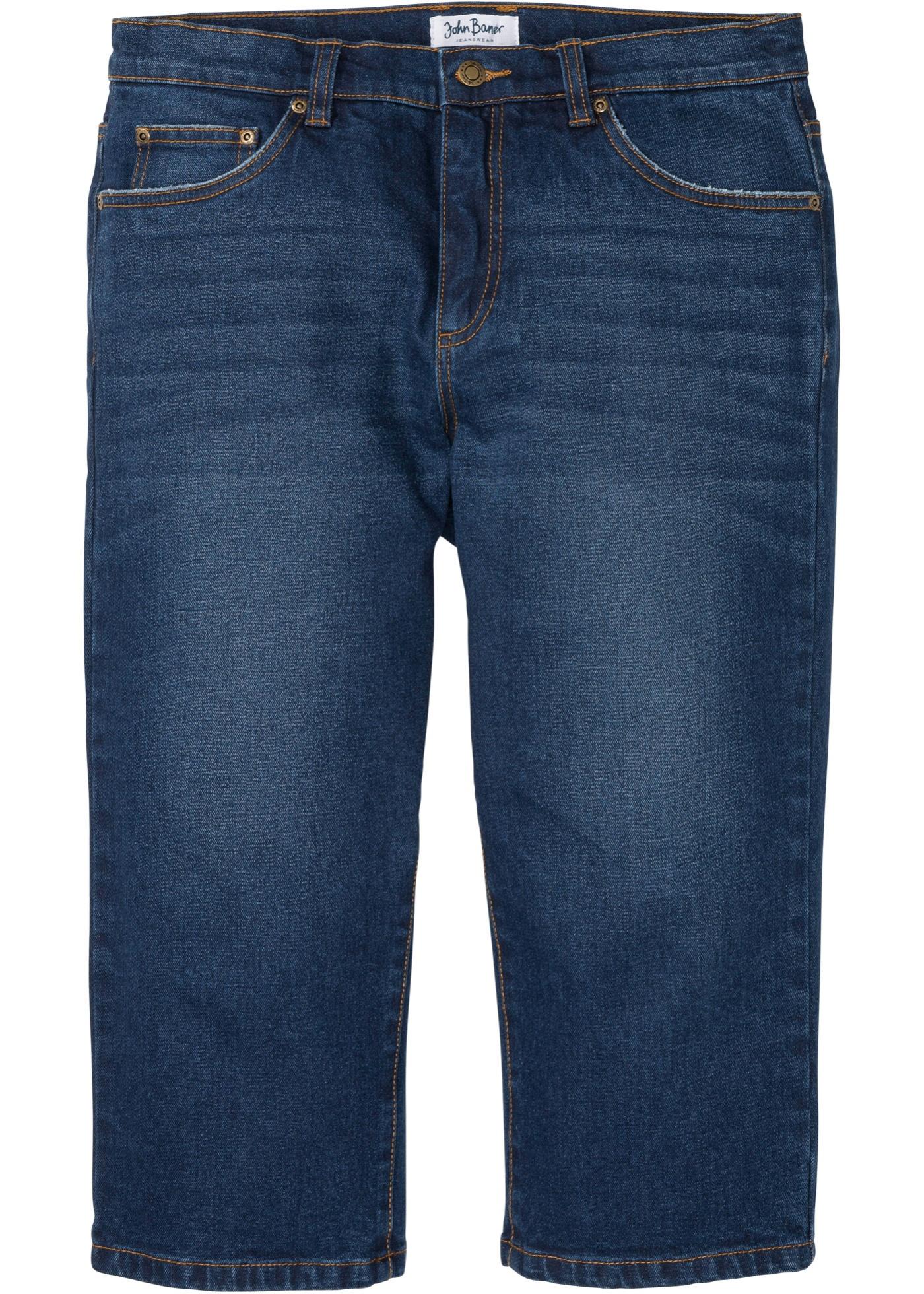 Bilde av 3/4 Classic Fit Stretch-jeans, Straight