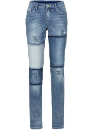 Boyfriend Jeans i patchwork-optikk, RAINBOW
