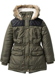 Parkas med hette og teddyfôr, bpc bonprix collection