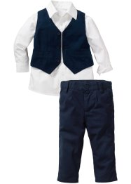 Babyskjorte + vest + bukse (3 deler), bpc bonprix collection