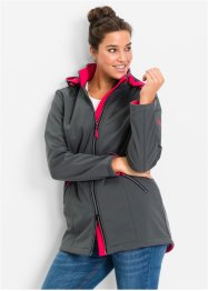 Softshell-jakke med hette og stretch, bpc bonprix collection