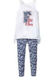 Lang topp + leggings (2 deler), bpc bonprix collection