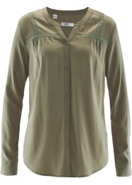Bluse med blondedetaljer, bpc bonprix collection