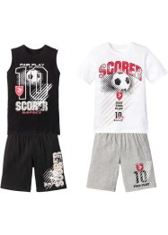 T-shirt + tanktopp + bermudas (4 deler, sett), gutt, bpc bonprix collection