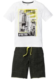 Topp + sweatbermuda (2-delt sett), bpc bonprix collection