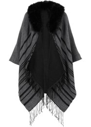 Poncho med imitert pels, bpc bonprix collection