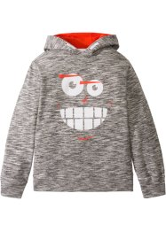 Sweatshirt med hette og trykk, bpc bonprix collection