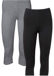 Capri-leggings, 2-pakning, BODYFLIRT