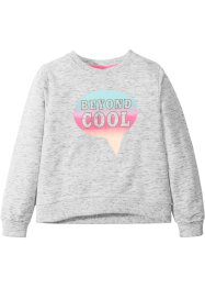 Melert sweatshirt med print, bpc bonprix collection