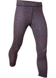 Sportleggings, mønstret, 3/4-lang, bpc bonprix collection
