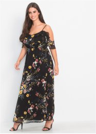 Cold-Shoulder maxikjole med blomstertprint, BODYFLIRT