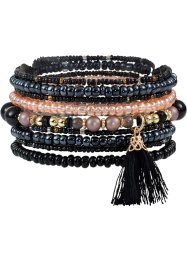 Armbåndsett med dusk, 9 deler, bpc bonprix collection