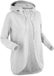 Sweatjakke med hette, lang arm, bpc bonprix collection