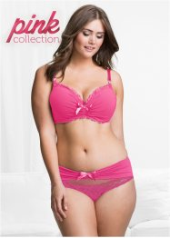 Pink Collection, skål-BH med glitrende sten, BODYFLIRT
