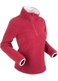 Topp i teddy-fleece, lange ermer, bpc bonprix collection
