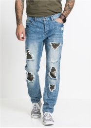 Jeans med normal passform, avsmalende ben, RAINBOW
