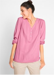 Henley-bluse med lang arm, bpc bonprix collection