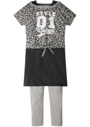 Boxy topp + kjole + leggings (3 deler, sett), bpc bonprix collection
