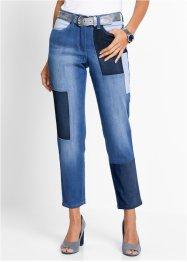 7/8-lang stretchjeans med patchwork, bpc selection