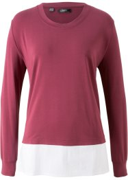 Sweater-genser med blusebesetning, bpc bonprix collection