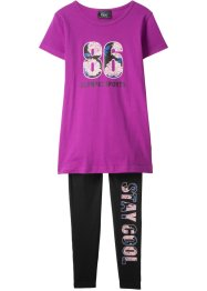 T-shirt + leggings (2 deler, treningssett), bpc bonprix collection