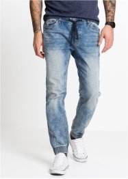Pull-on jeans, rett, smal passform, RAINBOW