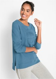 Sweatshirt med preging, lang arm, bpc bonprix collection