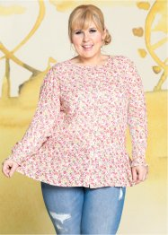 Bluse i peplum-stil, lang arm, fra Maite Kelly, bpc bonprix collection