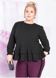 Bluse med peplum, designet av Marte Kelly, bpc bonprix collection