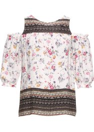 Bluse med cut-outs, RAINBOW