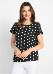 Bluse med gummistrikk, bpc bonprix collection