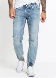 Pull-on jeans i stretch, Slim Fit Straight, RAINBOW