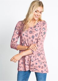 Topp med blomsterprint, 3/4-lang arm, bpc bonprix collection
