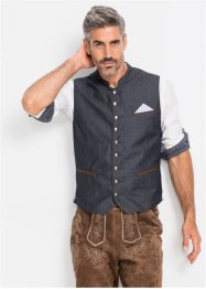 Jeansvest i tirolerstil, normal passform, bpc selection
