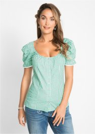 Tirolerbluse med carmenutringning, bpc bonprix collection